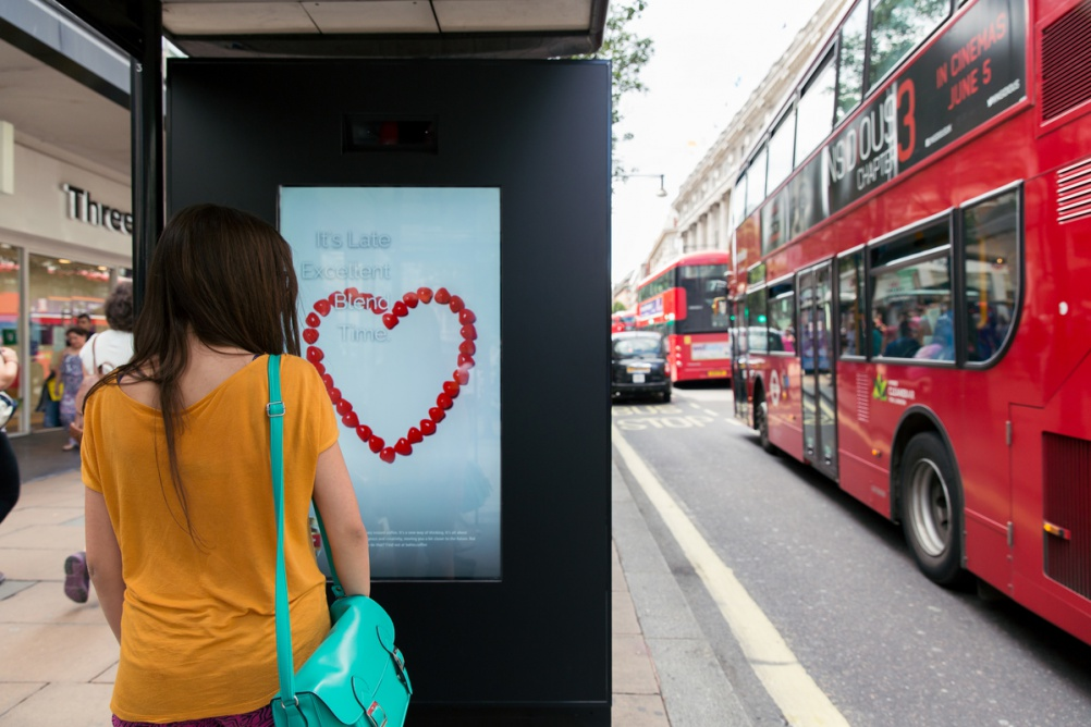 M&C Saatchi, Artificial Intelligence Poster, Oxford Street London.