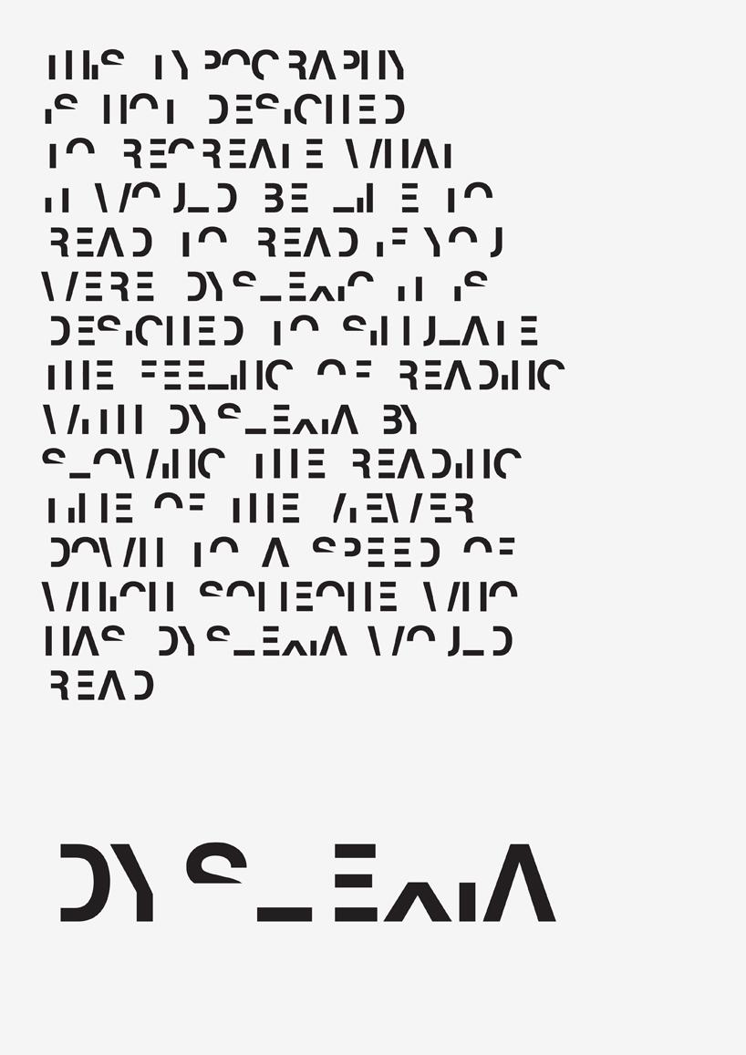 Dyslexia poster text black