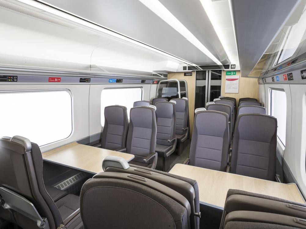 Mockup of Standard Class interiors