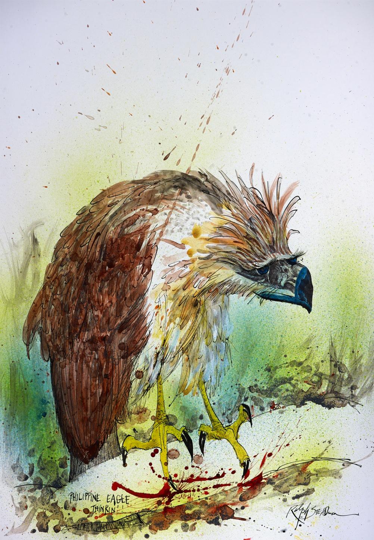 NEXTINCTIONS Philippine Eagle Thinking 521039