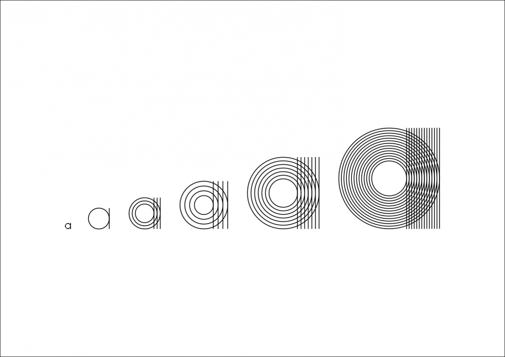 """Responsive Type – a project Luke and Jody say """"sums up our interest in the relationship between old and new mediums"""""""