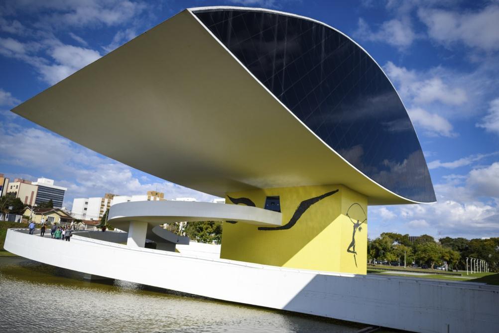 Eye shaped Oscar Niemeyer Museum at Curitiba, Brazil