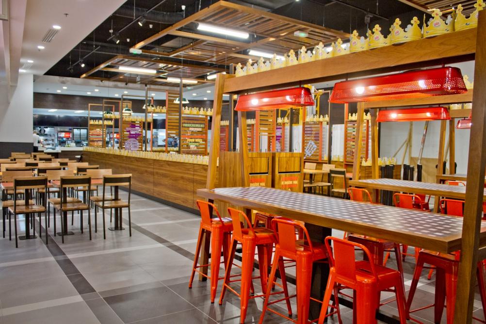 "Burger king launches ""subtle new interior design"