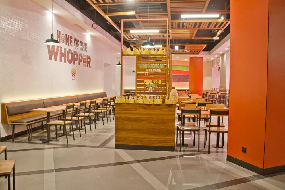 Burger King Launches subtle New Interior Design