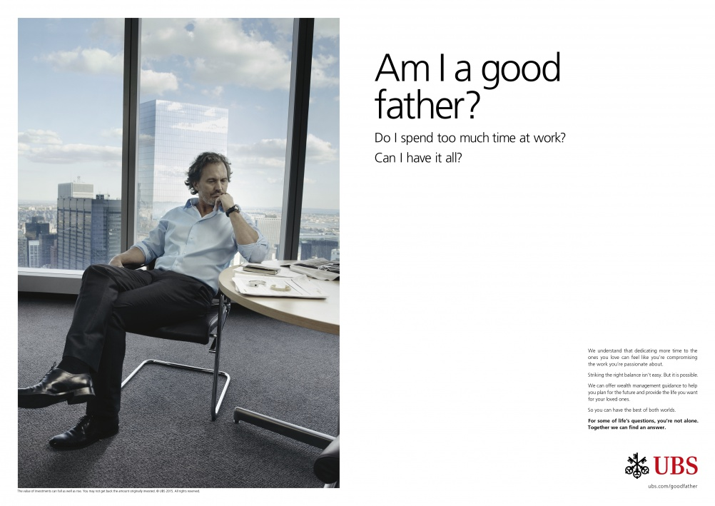 Creative for the new UBS global brand campaign featuring photography by Annie Leibovitz. © UBS
