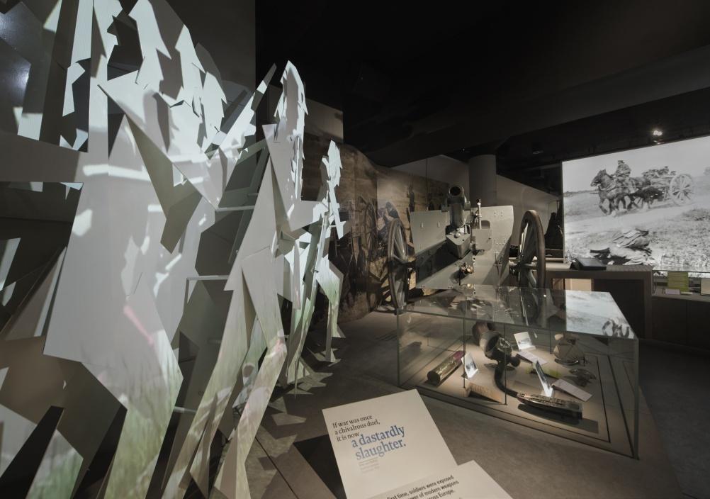 The IWM First World War galleries, designed by Casson Mann