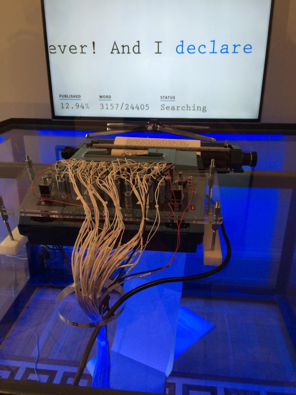 A #PoweredByTweets exhibit