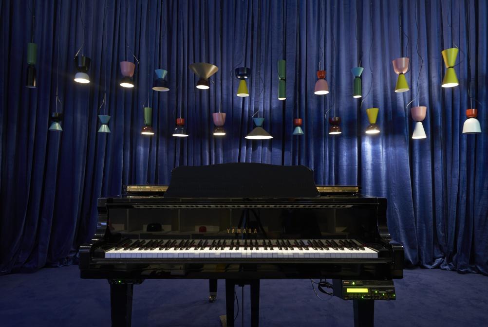 Alphabeta lamp installation, by Assemble. © London Design Festival