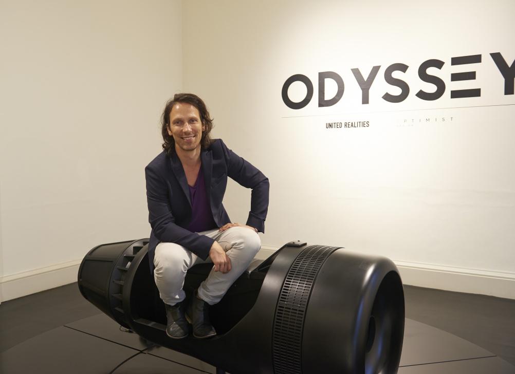Virtual reality platform Odyssey and designer Tino Schaedler. © London Design Festival