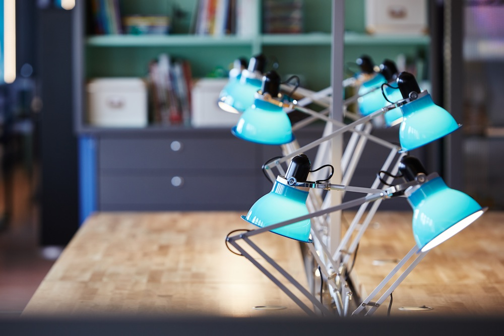 The Study Manchester Museum desk lamps by BKD