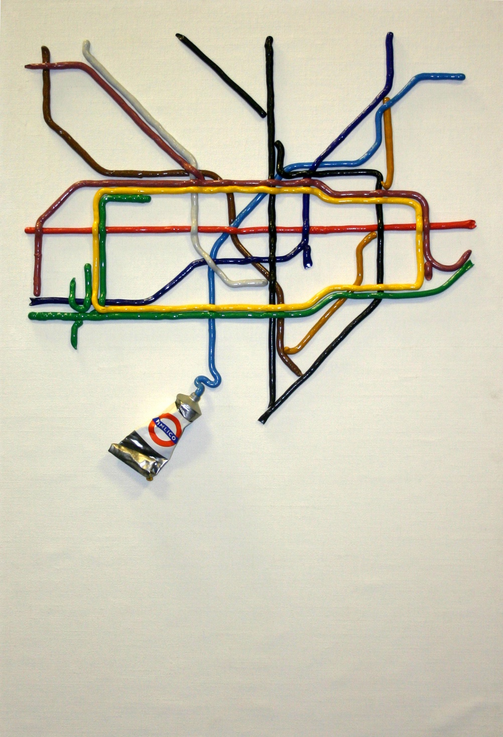 The Tate Gallery by Tube, by David Booth, 1986