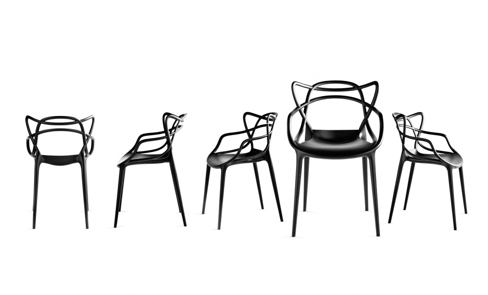 Kartell chair, by Philippe Starck