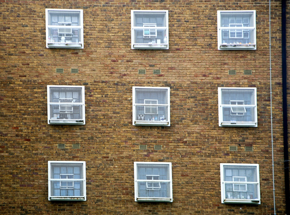 Cell windows of C wing. HMP Coldingley