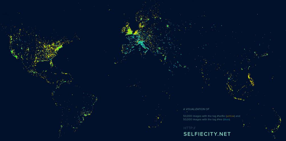 selfiecity hashtag map © selfiecity.net