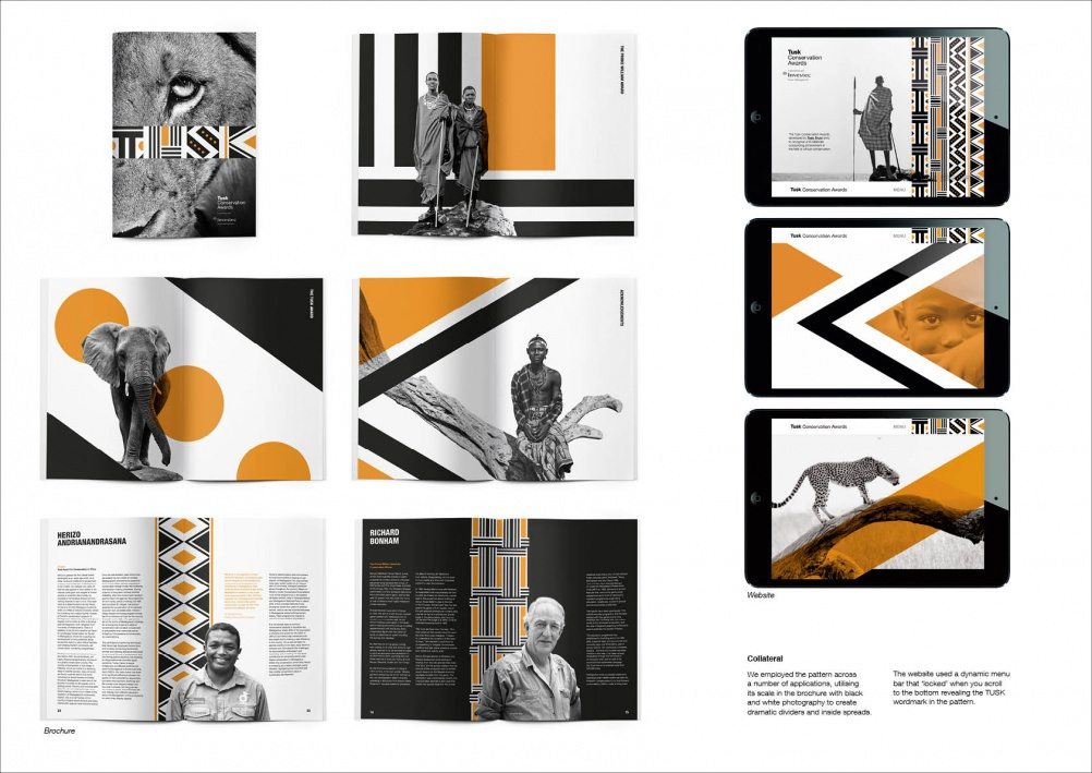 Tusk Trust identity work, by The Partners