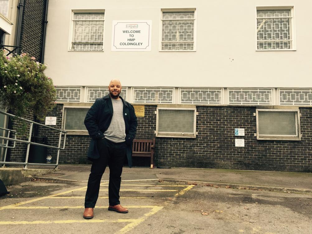 Jon Daniel outside HMP Coldingley