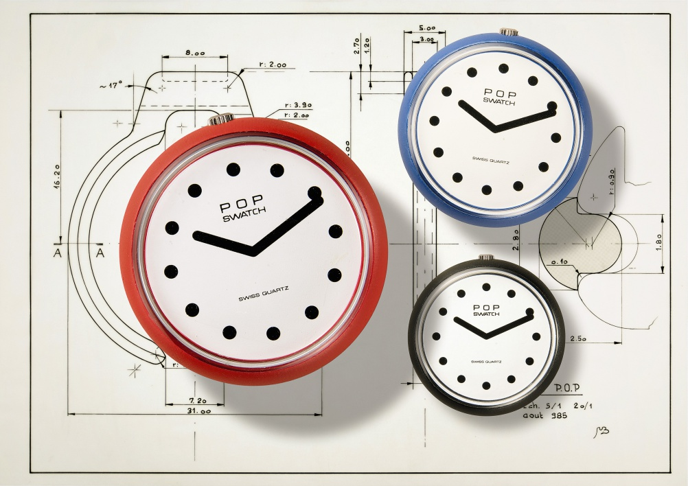The Pop Swatch model could be attached directly to clothing