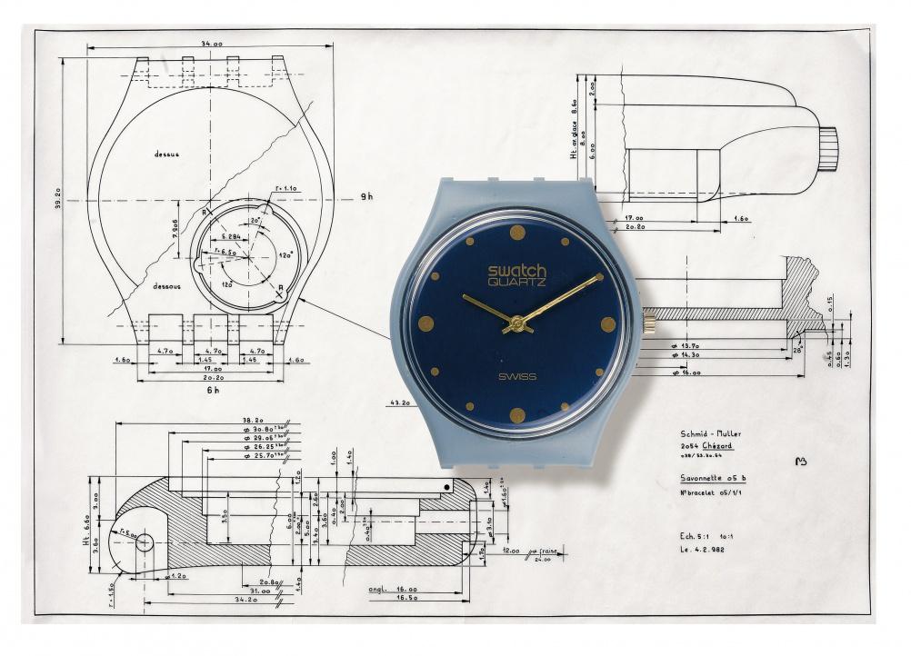 Designs for Swatch's Savonette model