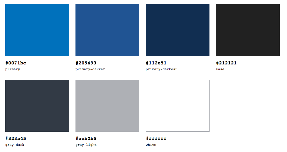 Suggested colour palette