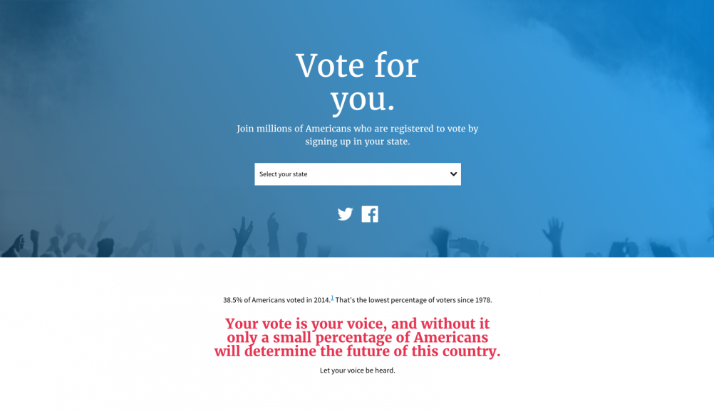 The vote.usa.gov website – built using the design principles