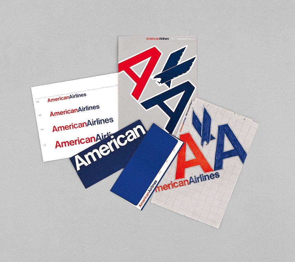 Massimo Vignelli's visual identity for American Airlines, 1967