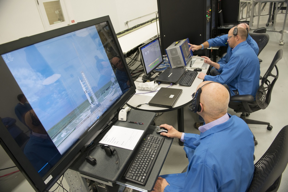 Engineers test the booster avionics through two-minute simulations of the SLS in flight