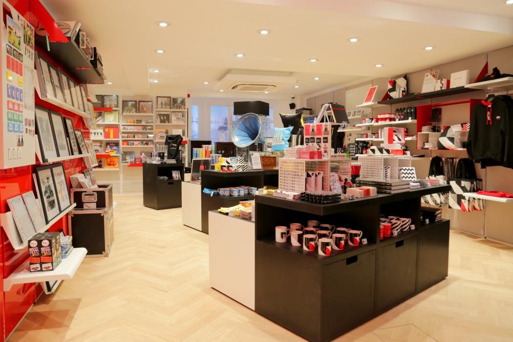 abbey road studios opens retail store design week. Black Bedroom Furniture Sets. Home Design Ideas