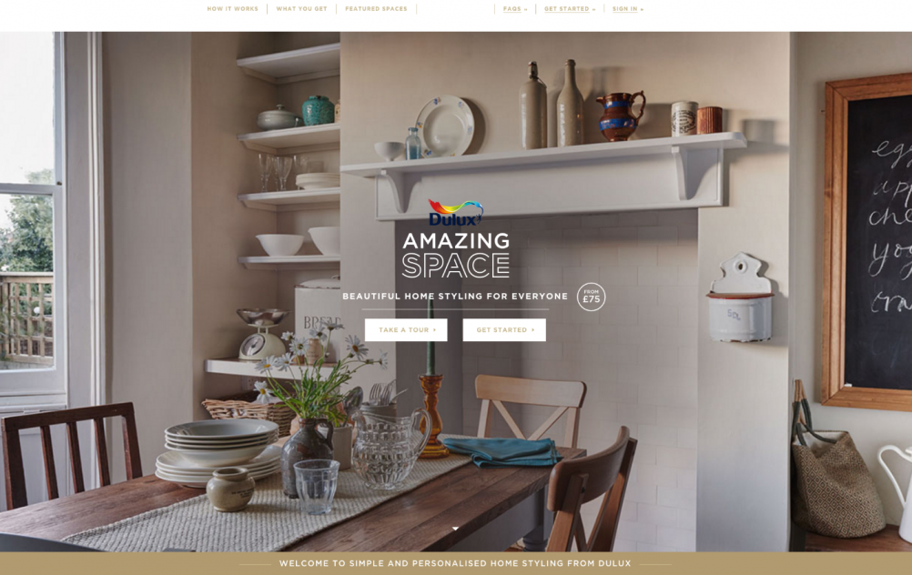 Dulux Amazing Space Homepage