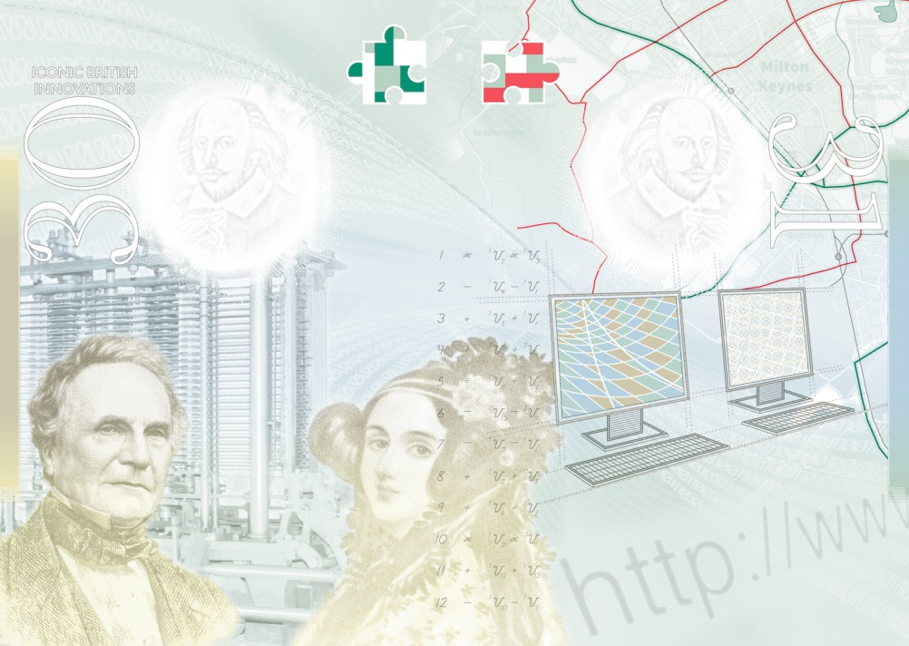 Charles Babbage and Ada Lovelace, Babbage's Analytical Engine, Lovelace's code, a URL, modern computers and a map of Bletchley