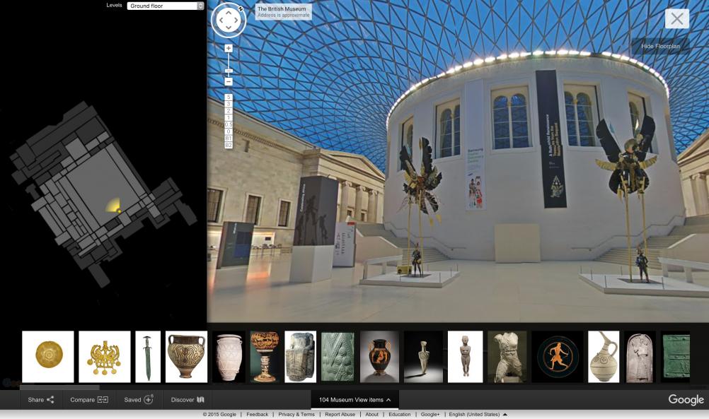 The British Museum on Google Street View