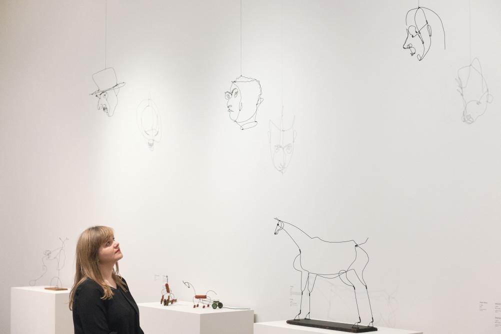 Calder's wire portraits (Joan Miró, 1929; Fernand Léger, 1930; and Varése, c.1930)