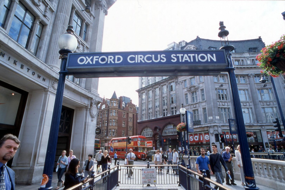 Oxford Circus now, 2001