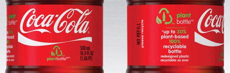 Coke plant bottle