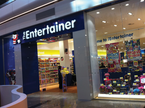 The Entertainer store