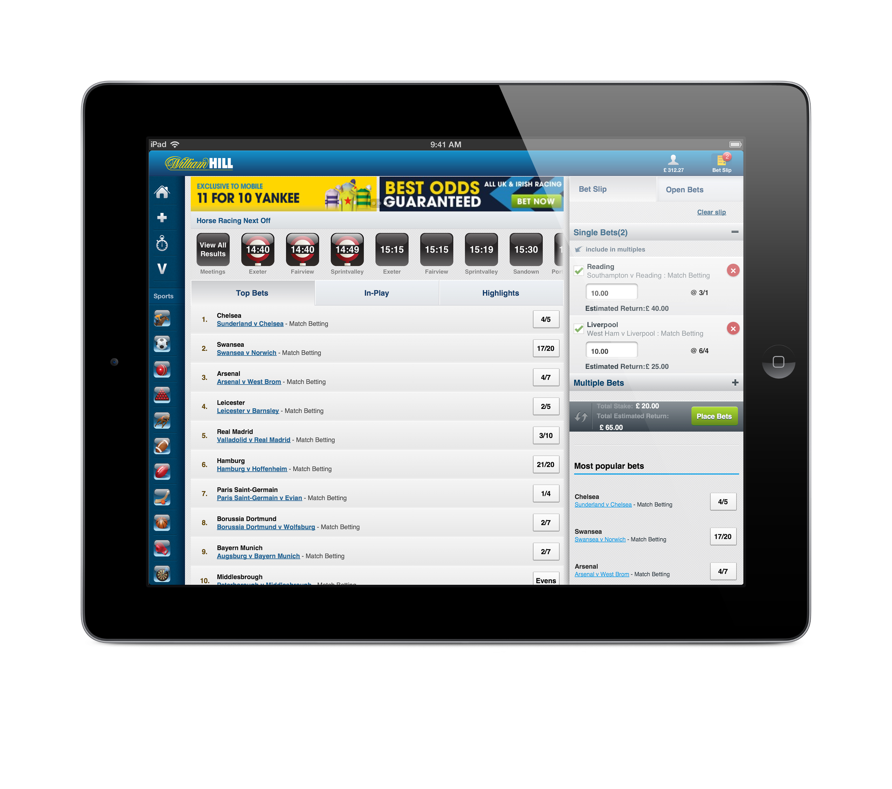 william hill ipad