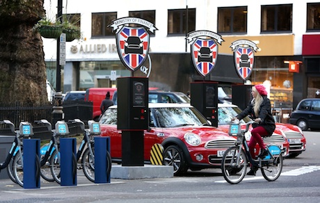 Mini offering car rental for 26p-per minute.