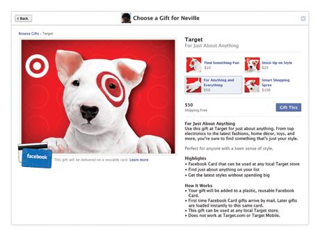 Facebook card sender  app