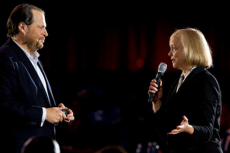 Marc Benioff Meg Whitman