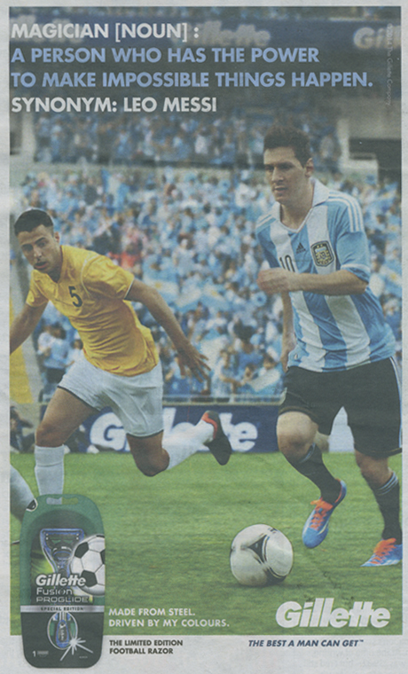 Gillette Messi press ad