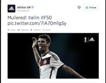 Adidas tweet