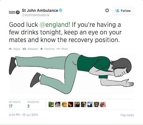 St John Ambulance Tweet