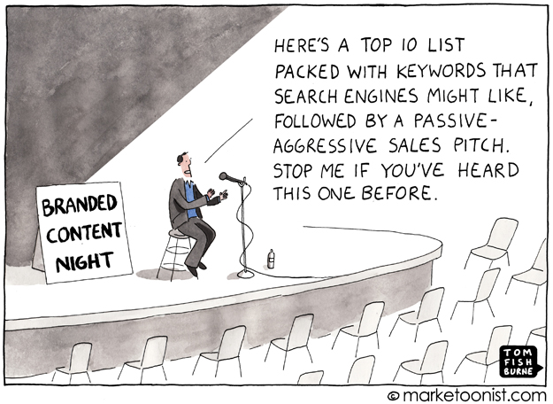 Branded content night, the Marketoonist