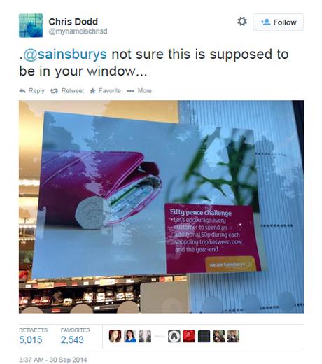 Sainsbury's 50p tweet