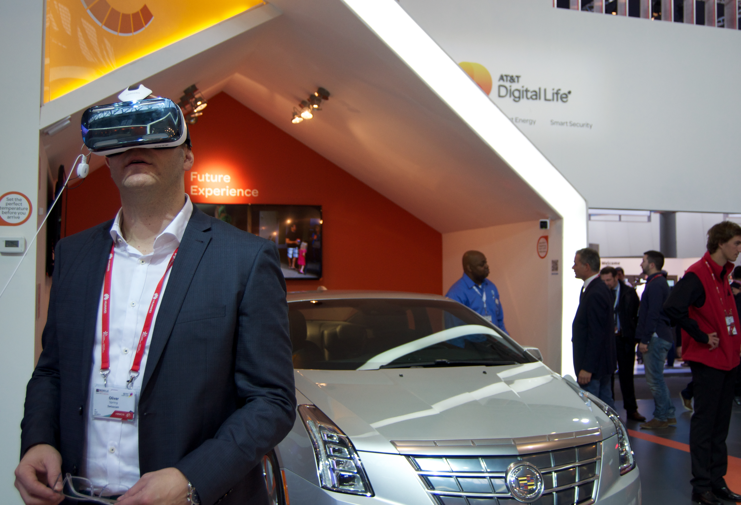 Virtual reality headsets were among the launch products on show at Mobile World Congress this week