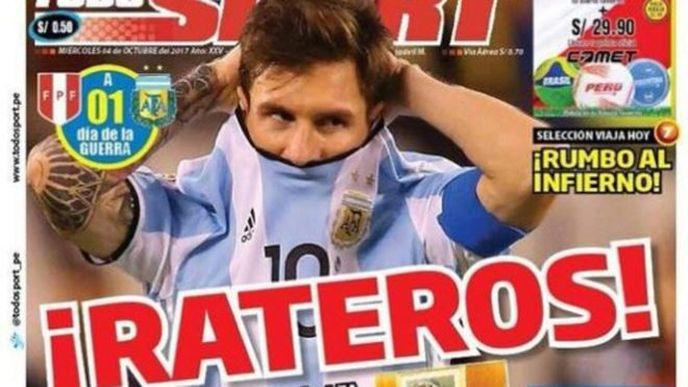 Clamorosa accusa del Perù nei confronti dell'Argentina: