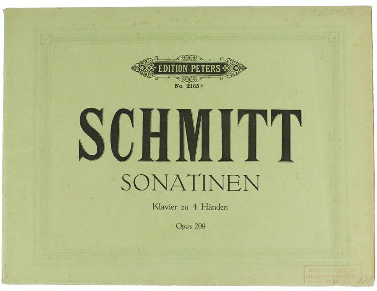 SONATINEN für Pianoforte su vier Händen, herausgegeben von Richard Hofmann. Band I Op. 208 - Band II Op. 209.
