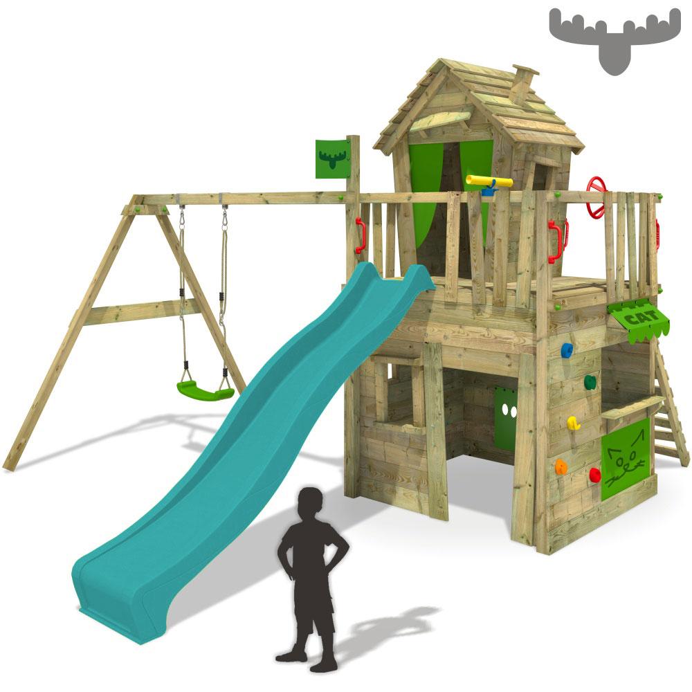 FATMOOSE CrazyCat Comfort XXL Spielturm Kletterturm Schaukel Rutsche Kaufladen   eBay