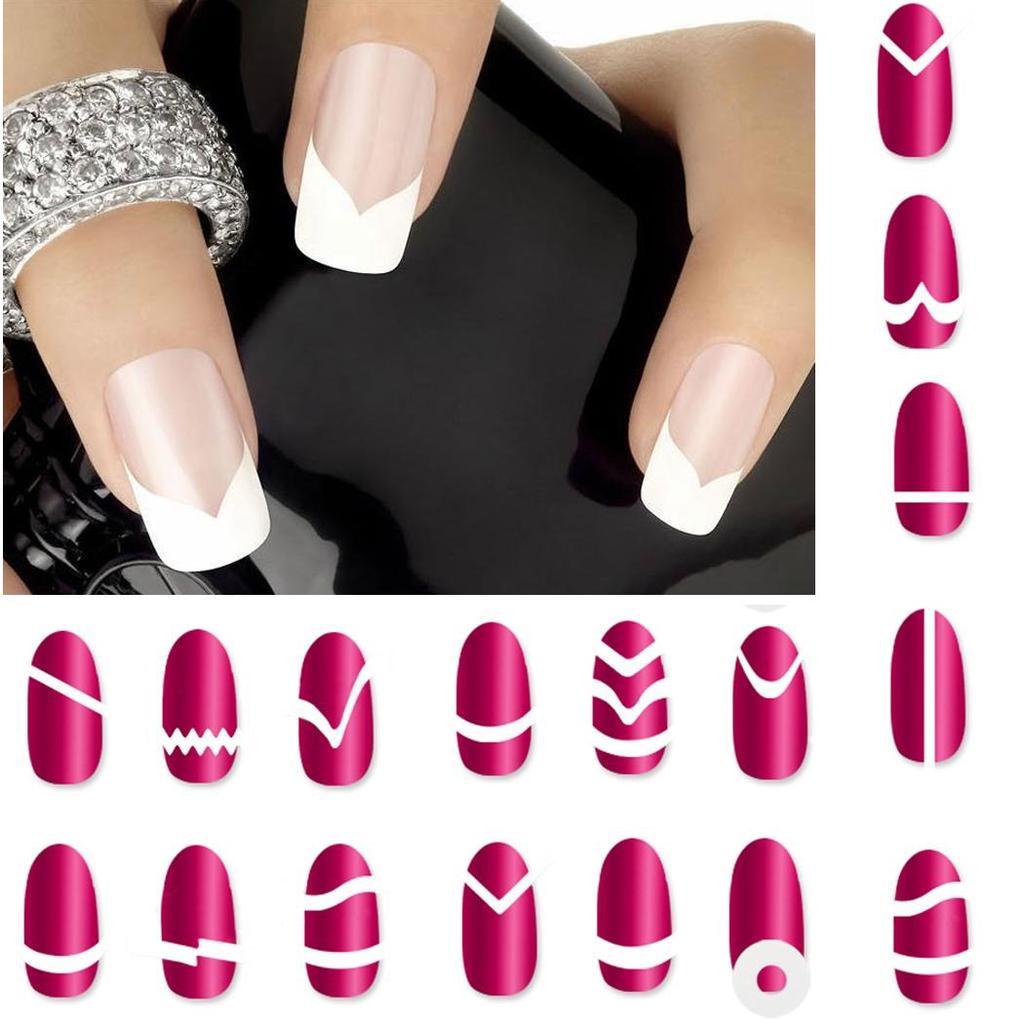 Идеальные ногти : трафареты для