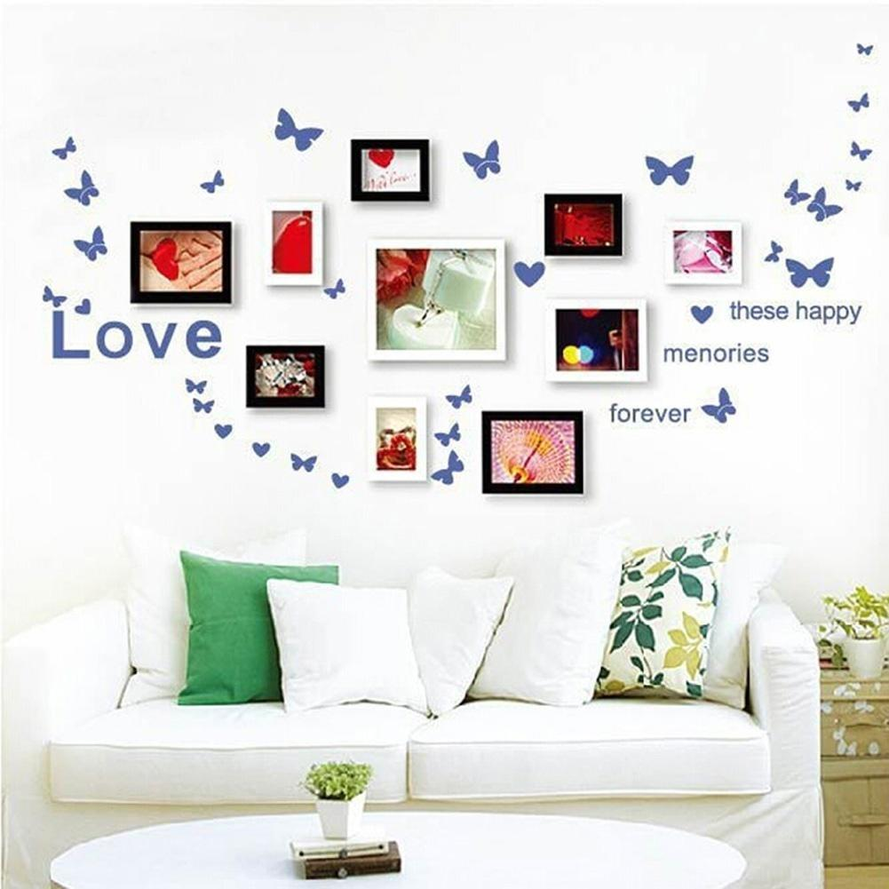 Как красиво оформить фото на стене своими руками
