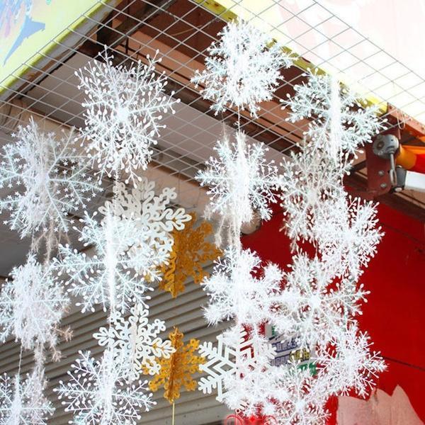 Снежинки как украсить дом в новый год